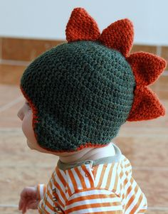 """Spike"" crocheted cap - free pattern....anybody want to volunteer to crochet this for me!?  Just puttin' it out there!"
