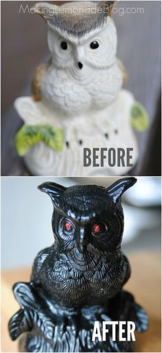 Halloween decor on a dime... i can't believe how easy it is to get a stylish look for just a few dollars using these tricks and ideas! Halloween Treats, Halloween Fun, Diy Halloween Decorations Cheap, Dollar Store Halloween, Halloween Projects, Holidays Halloween, Dollar Store Crafts, Glitter Glue, Red Glitter