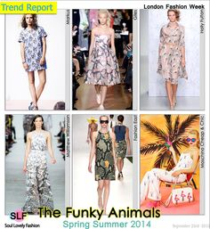 The Funky Animals Pattern #Print Fashion #Trend for Spring Summer 2014 #Prints #Trends #Spring2013