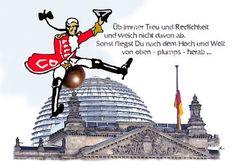 'Treu und Redlichkeit auf halbmast' von Dirk h. Wendt bei artflakes.com als Poster oder Kunstdruck $16.63