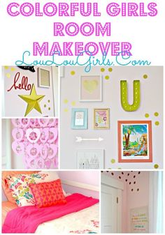 Colorful Girls Room Makeover! #colorfulgirlsroommakeover #colorful #girls #room #bedroom #makeover #cute #fun (scheduled via http://www.tailwindapp.com?utm_source=pinterest&utm_medium=twpin&utm_content=post65794042&utm_campaign=scheduler_attribution)