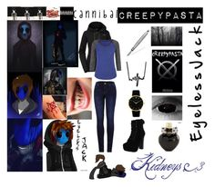 """Eyeless Jack"" by laughingjacksdaughter ❤ liked on Polyvore featuring The North Face, maurices, 2LUV, Chelsea Crew, Larsson & Jennings, Aéropostale, Vision and topic"