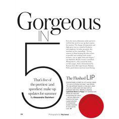 Malaika Firth by Naj Jamai for Glamour UK June 2015 Eyeshadow Lipstick ❤ liked on Polyvore featuring magazine