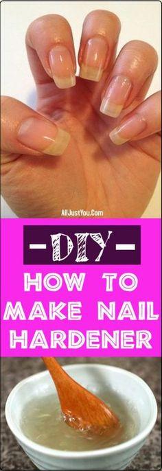 Diy nail soak for longer stronger nails all detox healthy diy how to make nail hardener diy beauty nail hair hard solutioingenieria Gallery