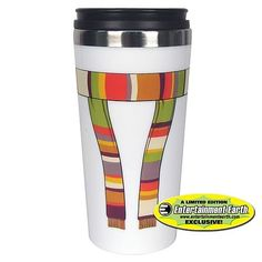 Not Just Toyz - EE Exclusive Doctor Who 4th Doctor Scarf Travel Mug, $12.99 (http://www.notjusttoyz.com/ee-exclusive-doctor-who-4th-doctor-scarf-travel-mug/)