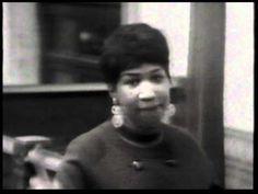 HQ-Video. Aretha Franklin - Respect , ein Hit 1967. Audio-CD-Sound versehen mit altem Video-Material.