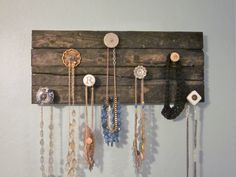 Jewelry Board-Distressed wood and shabby chic knobs