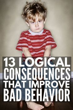 Enforcing logical consequences is a fabulous way for teachers to encourage good classroom behavior and parents to get kids to behave without yelling, and we're sharing 13 logical consequences that actually work! Classroom Behavior, Kids Behavior, Behavior Consequences, Child Behavior Problems, Behavior Charts, Kids And Parenting, Parenting Hacks, Parenting Plan, Parenting Quotes