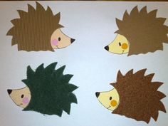 I've been thinking about making a hedgehog themed quilt.  These would make a great applique pattern to use.