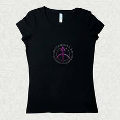 Sagittarius Spangle Zodiac Symbol Woman T-Shirt