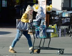 """Stay cozy like Hilary Duff in furry UGG boots  Click """"Visit"""" to buy #DailyMail"""