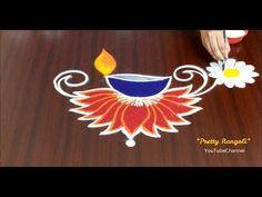 Rangoli Designs Peacock, Simple Rangoli Border Designs, Easy Rangoli Designs Diwali, Rangoli Simple, Indian Rangoli Designs, Rangoli Designs Latest, Free Hand Rangoli Design, Small Rangoli Design, Rangoli Patterns