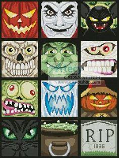 Halloween Minis cross stitch pattern.