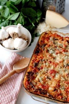 Italian Spinach and Chicken Casserole - Live Simply