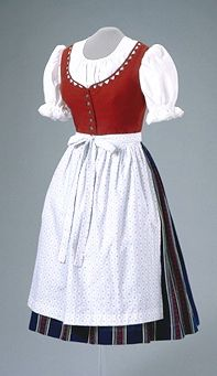 Folk dress from Vienna, Austria.  Canadian Museum of Civilization.