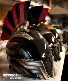 The Spartan helmet for bikers! Lightweight and strong helmet with ECE sign. The exterior of the helmet, on customers' request, can be individual; color options include a wide palette of colors and various options on the complexity of airbrushing. To see more visit http://nitrinos.ru