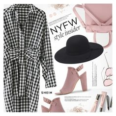"""What to Wear to NYFW"" by pokadoll ❤ liked on Polyvore featuring Balmain, Topshop and Henri Bendel"