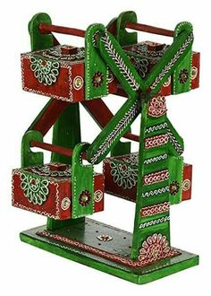 Diwali Decoration Items, Thali Decoration Ideas, Craft Stick Crafts, Fun Crafts, Arts And Crafts, Wood Painting Art, Wood Art, Janmashtami Decoration, Housewarming Decorations