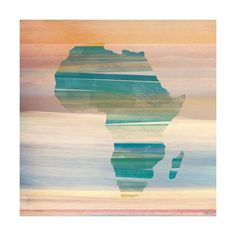 Parvez Taj Painted Africa Print on Canvas Art Print on Premium Canvas ($200) ❤ liked on Polyvore featuring home, home decor, wall art, canvas art, wall decor, cityscape wall art, white home decor, abstract home decor, map canvas wall art and parvez taj