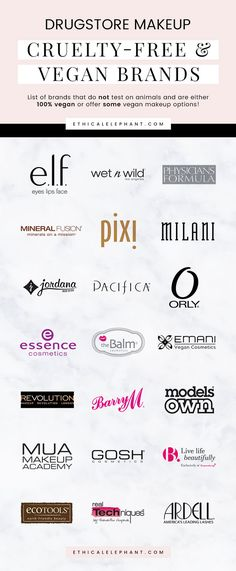 Know which brands to avoid and which brands are vegan versus not so vegan-friendly! List of affordable cruelty-free and vegan makeup brands that you can buy at the drugstore! List Of Brands, Makeup Brands List, Animal Makeup, Get Rid Of Blackheads, Skin Tag, Vegan Beauty, Beauty Hacks, Beauty Tips, Beauty Products