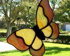 Kids Craft Butterfly Stained Glass Suncatcher Kit with Birds