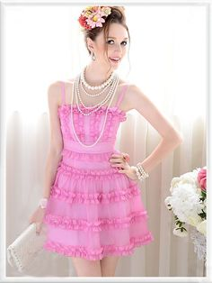 Morpheus Boutique  - Pink Bow Strap Layer Chiffon Trendy Celebirty Pleated Dress(http://www.morpheusboutique.com/products/pink-bow-strap-layer-chiffon-trendy-celebirty-pleated-dress.html)