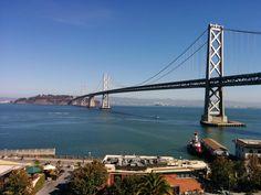 San Francisco Bay Bridge: View from the Google office.   #TCsummit