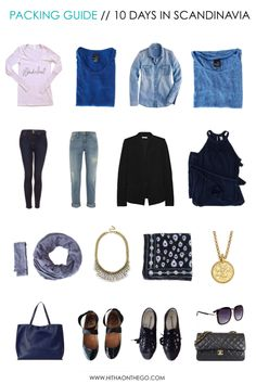 How to pack for a 10 day trip with only 9 items of clothing >> http://www.hithaonthego.com/packing-guide-10-days-scandinavia/