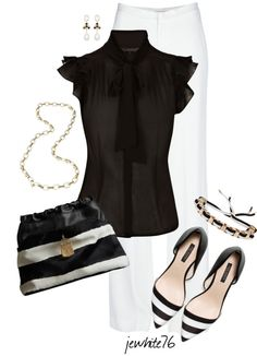"""BLACK & WHITE"" by jewhite76 on Polyvore"