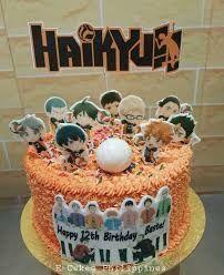 14th Birthday Cakes, Bithday Cake, Pretty Birthday Cakes, Naruto Birthday, Yummy Treats, Sweet Treats, Anime Cake, Cute Cakes, Themed Cakes