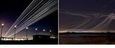long exposure flight paths - so cool