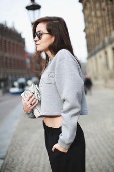 Top: Alexander Wang for H&M  |  Pants: Mango  |  Bag: Jimmy Choo  |  Sunglasses: Dior  |  Necklaces: Fashionology.nl