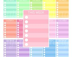 Printable sidebar This week planner stickers Sidebar Erin Condren This week stickers This week box sticker sidebar This week planner sticker by EnjoyPlanning on Etsy