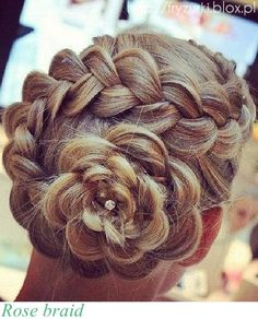 rose braid - Bing Images  I love this! ANNA OR ALYSSA?! Where are my little hairdressers when I need them? :(