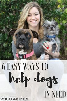 Easy ways to help dogs in need when you can't adopt.