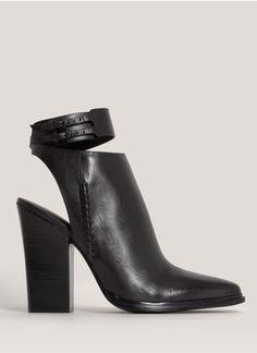 Alexander Wang - Dasha open-back booties | Black High Heel Boots | Womenswear | Lane Crawford - Shop Designer Brands Online