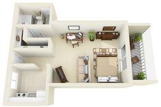 Studio - 3D Floor Plan | Flickr: Intercambio de fotos