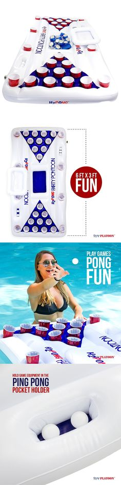 Toys and Games 181056: Fun Inflatable Beer Pong Table With Built In Cooler Floating Pool Party Game -> BUY IT NOW ONLY: $59.99 on eBay!