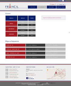 "Site ""Francil"" - Page Cours"