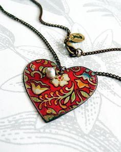 vintage tin heart  gypsy by littleblackrabbit on Etsy