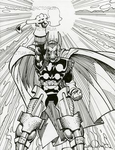 Walter Simonson The Mighty Thor Remarqued Artists Edition,Beta Ray Bill, in Gerry Turnbull's Walter Simonson Room Comic Art Gallery Room - 854252