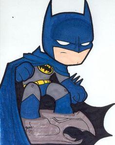 Chibi-Batman 5. by ~hedbonstudios on deviantART