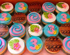 Moana Birthday Party Theme, Moana Themed Party, Moana Party, Luau Party, 1st Birthday Parties, Moana Cupcake, Festa Moana Baby, Bolo Moana, Birthday Balloon Decorations