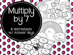 These 8 Worksheets are the perfect way to help your students review their seven times tables!Answer Keys are included!
