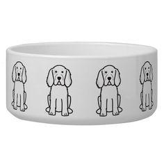 Clumber Spaniel Dog Cartoon Dog Bowls