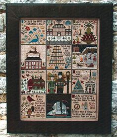 Carriage House Samplings Christmas at Hawk Run Hollow - Cross Stitch Pattern. I Heard the Bells on Christmas Day.  I hear old familiar carols play, wild and swe