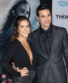 Chloe Bennet and Brett Dalton at Thor: The Dark World Los Angeles premiere