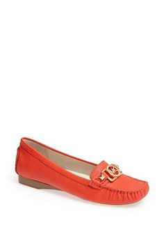 MICHAEL Michael Kors 'Charm' Saffiano Leather Moccasin available at #Nordstrom