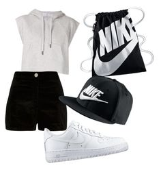 """""""sport nike"""" by aichaoulmekki ❤ liked on Polyvore featuring beauty, adidas, River Island and NIKE"""
