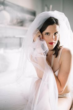Pearls and a veil is all you need to be fabulous! Bridal boudoir by Sparks Weddings Bridal Boudoir, Waiting For Her, Veil, Wedding Photography, Pearls, Weddings, Bride, Portrait, Image